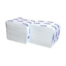 250840 Lime Туалетная бумага листовая в пачках V укладка 2 сл белая 10.5 х 21.5 см 200 шт