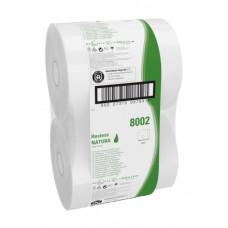8002 Туалетная бумага в больших рулонах Unbranded Midi Jumbo однослойная 6 рулонов по 525 метров