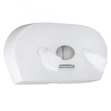 7186 Диспенсер для туалетной бумаги в рулонах с центральной подачей Aquarius Scott Control Mini Twin белый (для 8591)