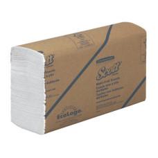 3749 Бумажные полотенца в пачках Scott Multi-Fold белые однослойные универсальные 16 пачек по 250 листов