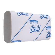 5856 Бумажные полотенца в пачках Scott SlimFold белые однослойные 16 пачек по 110 листов
