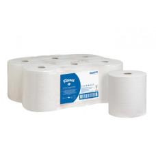 6238 Бумажные полотенца в рулонах Kleenex Ultra белые двухслойные (6 рулонов по 180 метров)