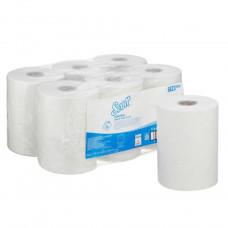 6623 Бумажные полотенца в рулонах Scott Control Slimroll белые однослойные (6 рулонов по 165 метров)