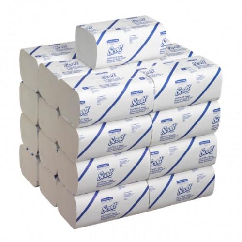 6633 Бумажные полотенца в пачках Scott Scottfold M белые однослойные 25 пачек по 175 листов