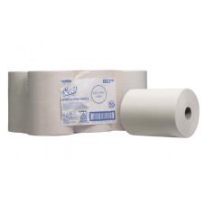 6657 Бумажные полотенца в рулонах Scott Slimroll белые однослойные 6 рулонов по 165 метров
