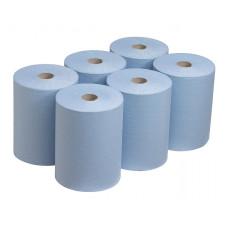 6658 Бумажные полотенца в рулонах Scott Slimroll голубые однослойные 6 рулонов по 165 метров