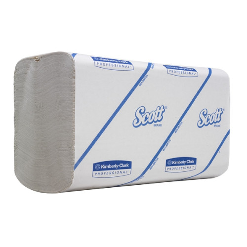 6659 Бумажные полотенца в пачках Scott Perfomance белые однослойные растворимые 15 пачек по 300 листов