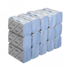 6664 Бумажные полотенца в пачках Scott Performance голубые однослойные 15 пачек по 212 листов