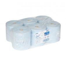 6688 Бумажные полотенца в рулонах Scott XL голубые однослойные 6 рулонов по 354 метра