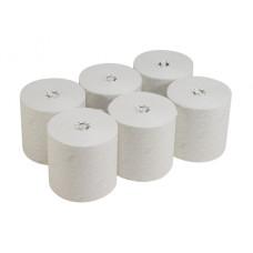 6691 Бумажные полотенца в рулонах Scott Essential белые однослойные 6 рулонов по 350 метров