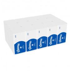 6710 Бумажные полотенца в пачках Kleenex Ultra белые трёхслойные (15 пачек по 96 листов)