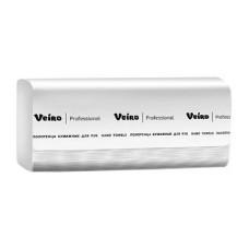 V2-250 Бумажные полотенца Veiro Professional, листовые, серые, V укладка, 250шт, 1 слой, 20 пачек