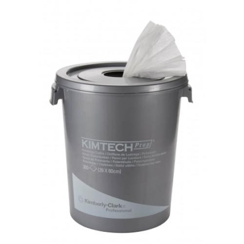 7213 Полировочные салфетки в рулонах Kimberly-Clark Kimtech Cloth (блок 300 листов + ведро)