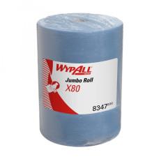 8347 Протирочный материал в рулонах WypAll X80 голубой (1 рулон 475 листов)